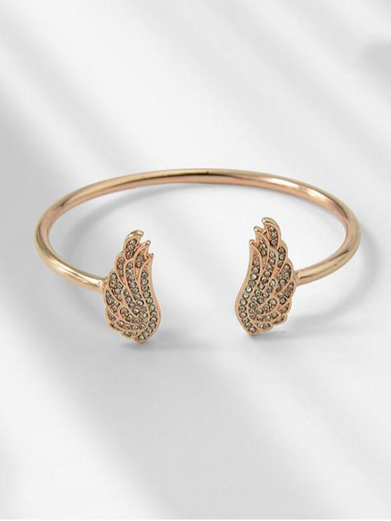 outfits Rhinestone Angel Wing Open Bracelet - ROSE GOLD