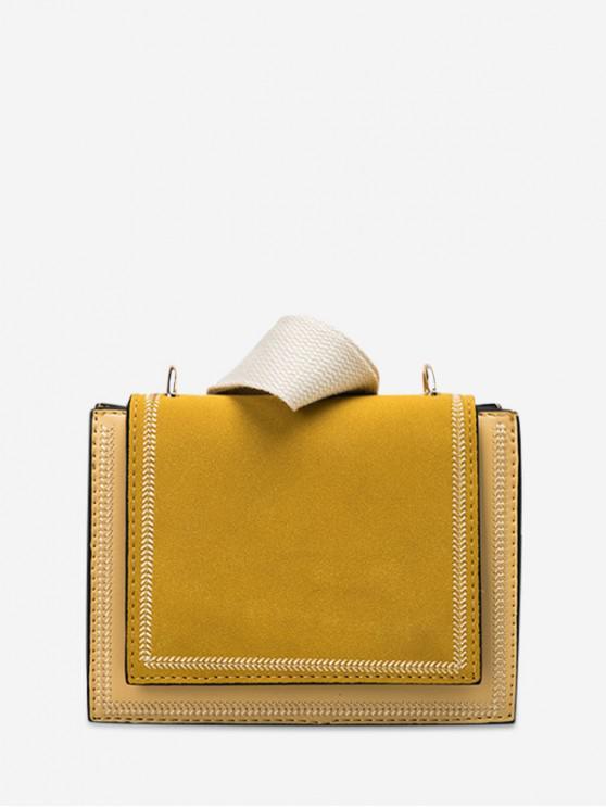women Simple Solid Shoulder Bag - YELLOW