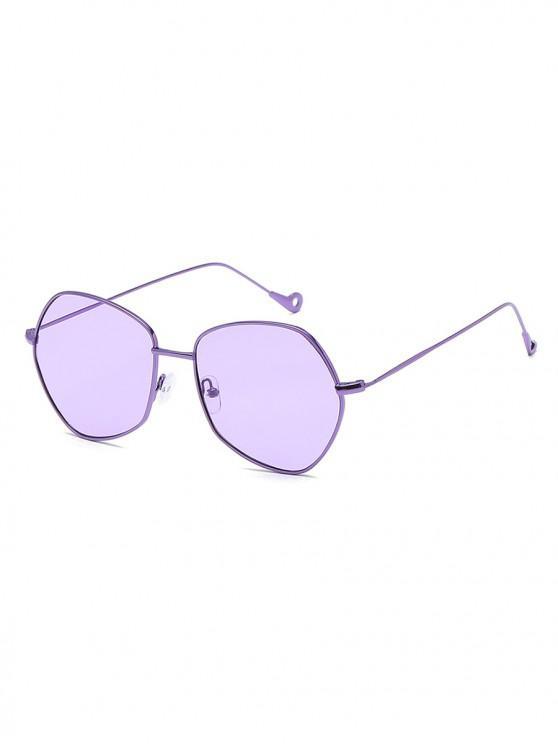 shop Irregular Shape Alloy Frame Sunglasses - MAUVE