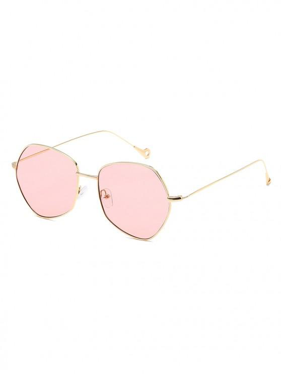 latest Irregular Shape Alloy Frame Sunglasses - PINK