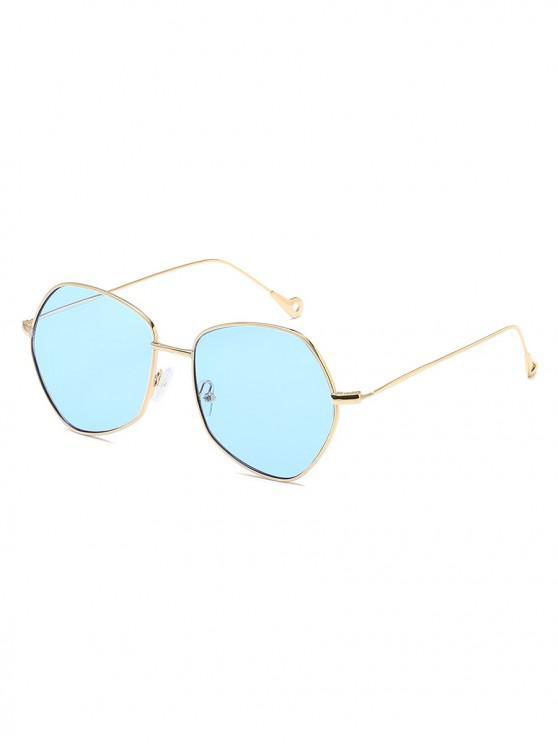 chic Irregular Shape Alloy Frame Sunglasses - LIGHT SKY BLUE