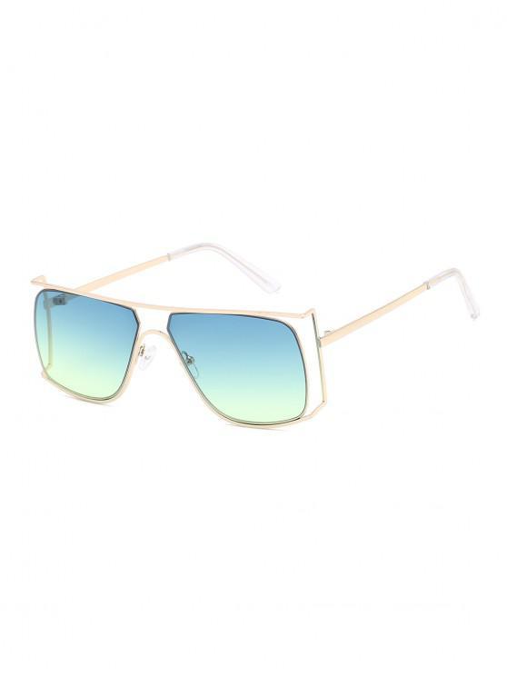 womens Irregular Metal Frame Sunglasses - MEDIUM TURQUOISE