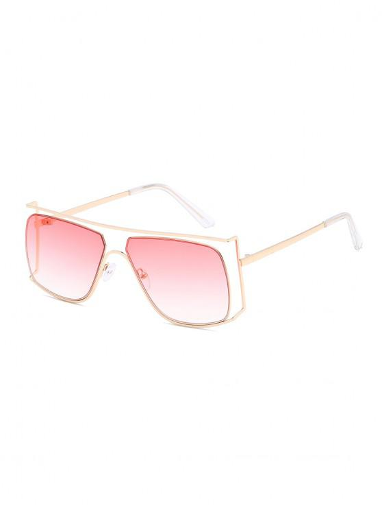 best Irregular Metal Frame Sunglasses - PIG PINK