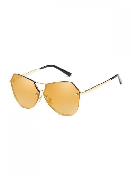 new Alloy Irregular Sunglasses - CHAMPAGNE GOLD