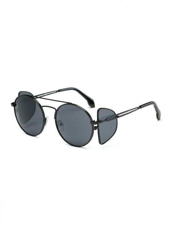 outfit Double Lens Sunglasses - BLACK EEL