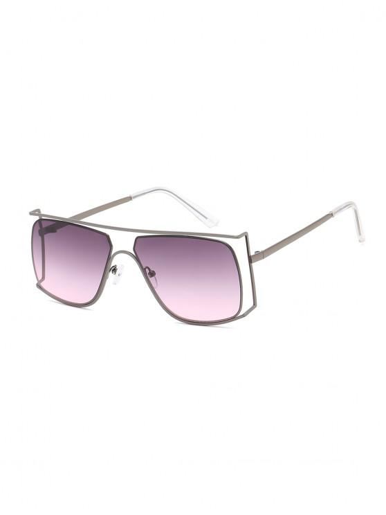 outfits Irregular Metal Frame Sunglasses - DARK SLATE GREY