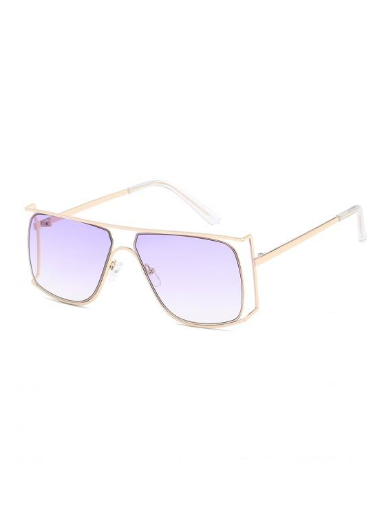 shop Irregular Metal Frame Sunglasses - LAVENDER BLUE