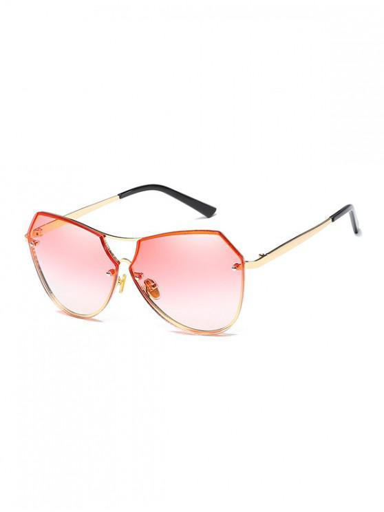 shops Alloy Irregular Sunglasses - LIGHT PINK