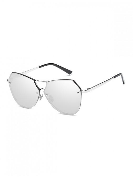 unique Alloy Irregular Sunglasses - PLATINUM