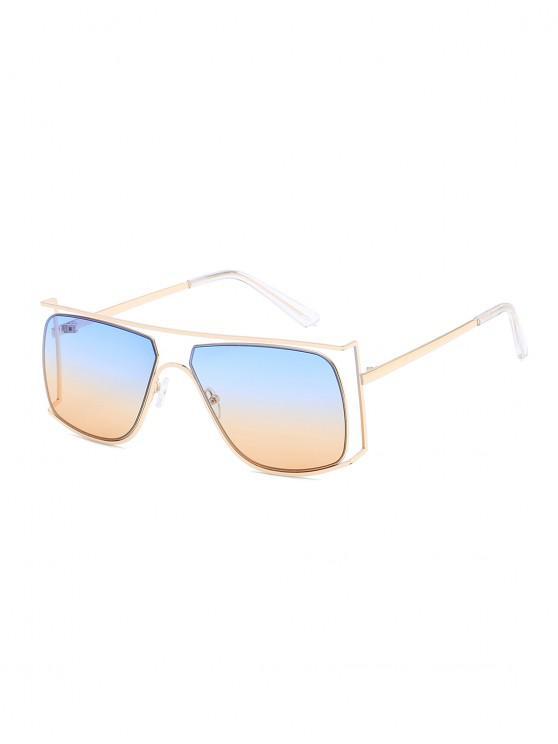 affordable Irregular Metal Frame Sunglasses - LIGHT SKY BLUE
