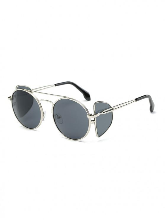 ladies Double Lens Sunglasses - DARK SLATE GREY