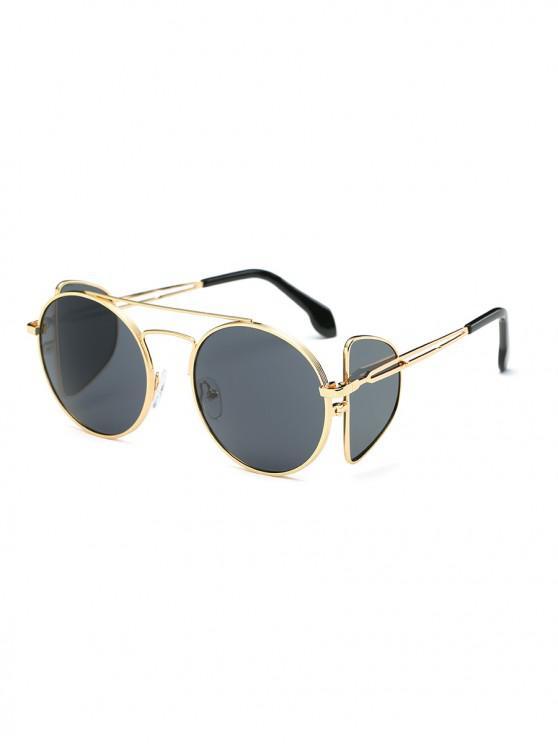 lady Double Lens Sunglasses - BLACK