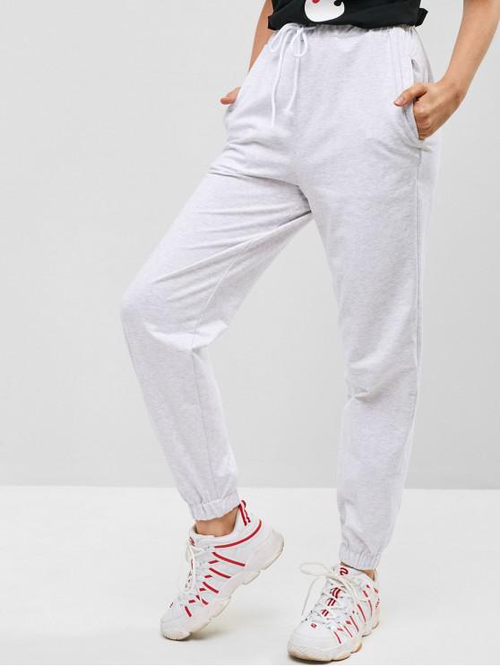 Pantalon de Jogging Teinté à Cordon - Gris Clair S