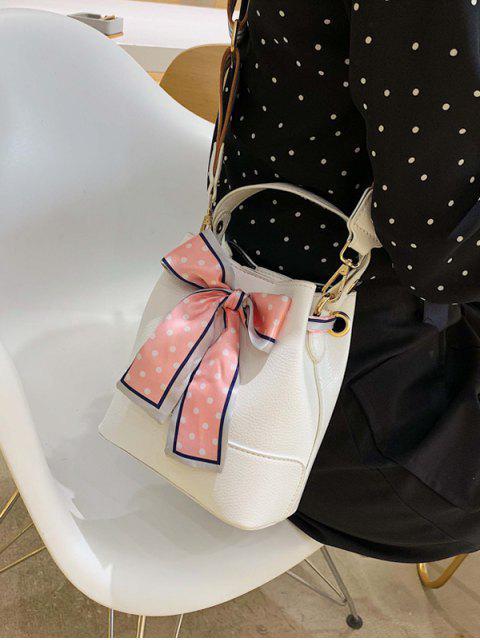 Sac à Bandoulière avec Nœud Papillon Design - Blanc  Mobile