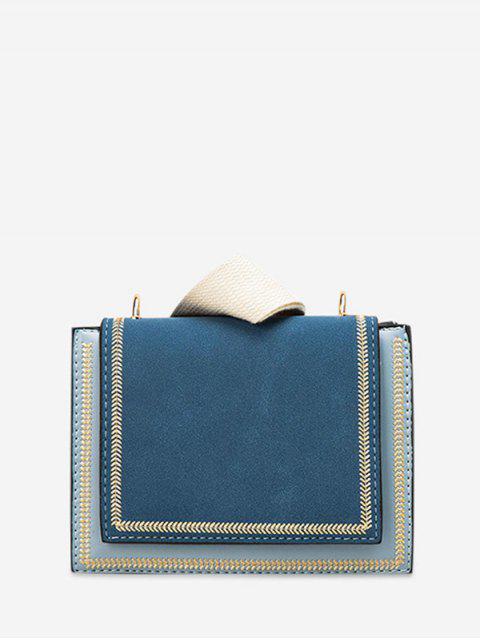 Sac à Bandoulière Simple en Couleur Unie - Bleu Ciel  Mobile