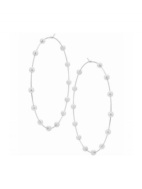 Boucles d'Oreilles au Crochet Décorées de Fausse Perle - Argent  Mobile