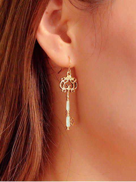 Boucles d'oreilles Vintage clé creuse - Or  Mobile