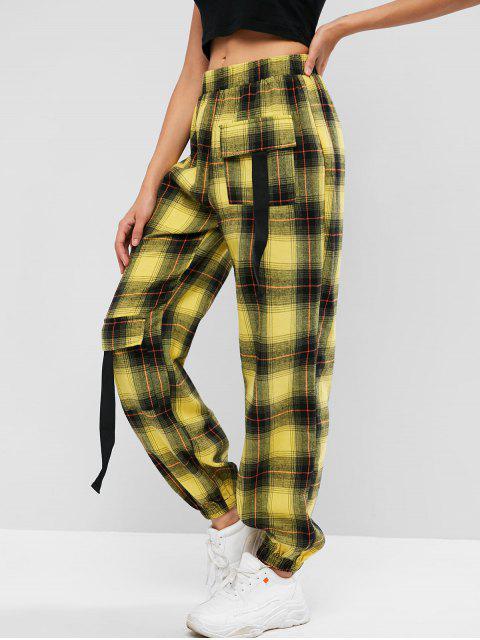 ZAFUL Flap Pocket Plaid Jogger pantalones - Multicolor XL Mobile