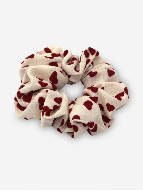 Bande de Cheveux Elastique Motif de Cœur en Mousseline - Blanc Chaud  Mobile