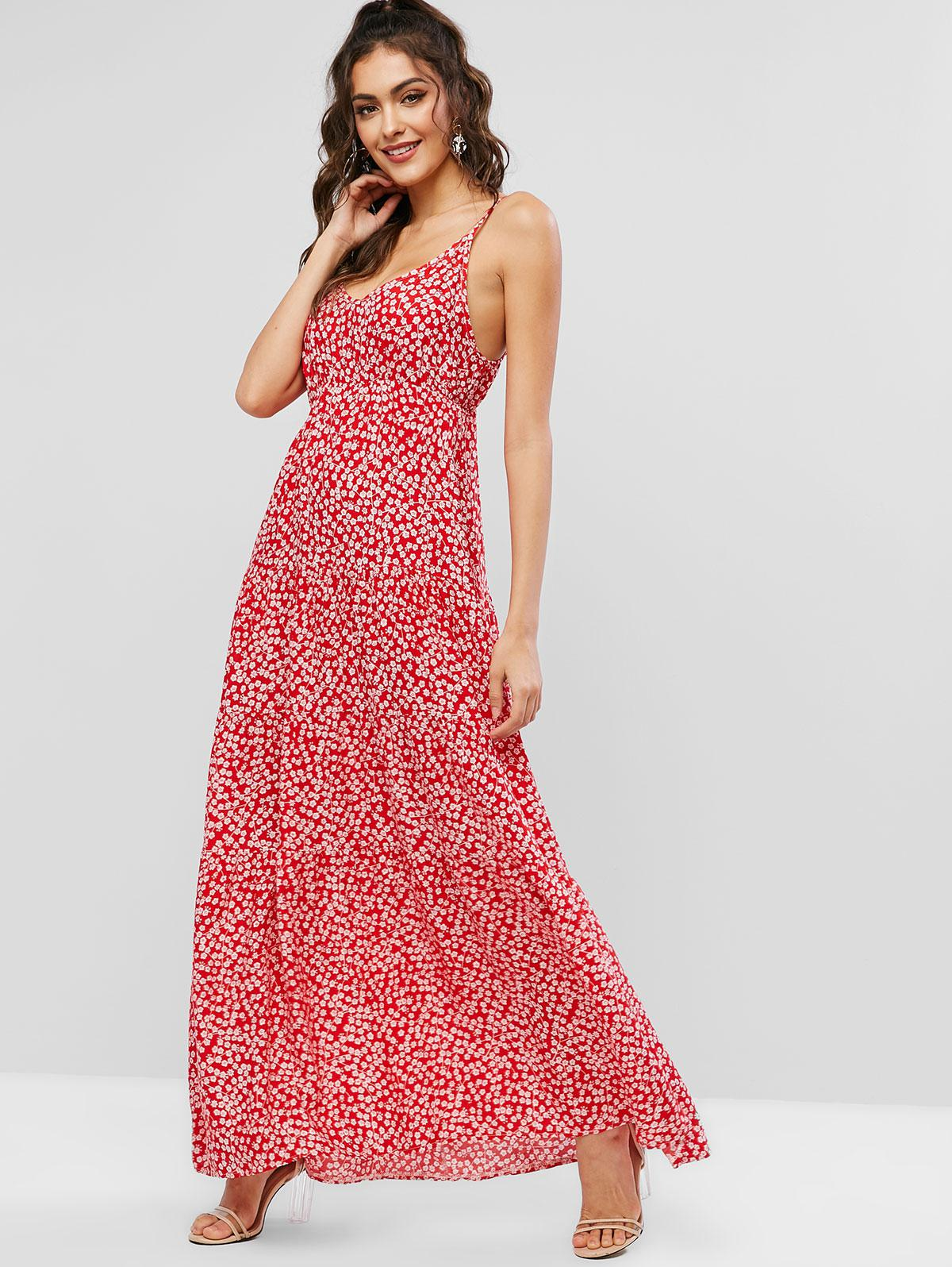 Ditsy Floral Cami Maxi Dress thumbnail