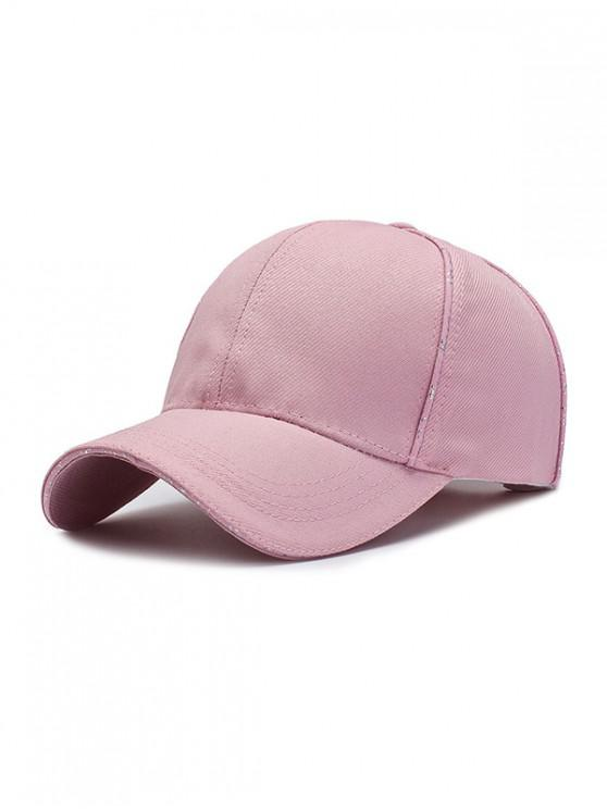 hot 6 Petals Solid Sport Baseball Cap - LIGHT PINK