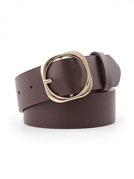shop Retro Buckle Decoration Waist Belt - DEEP COFFEE