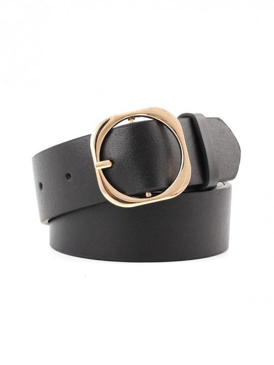 shops Retro Buckle Decoration Waist Belt - BLACK