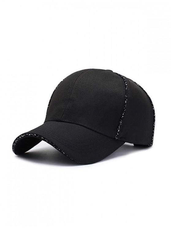 fancy 6 Petals Solid Sport Baseball Cap - BLACK