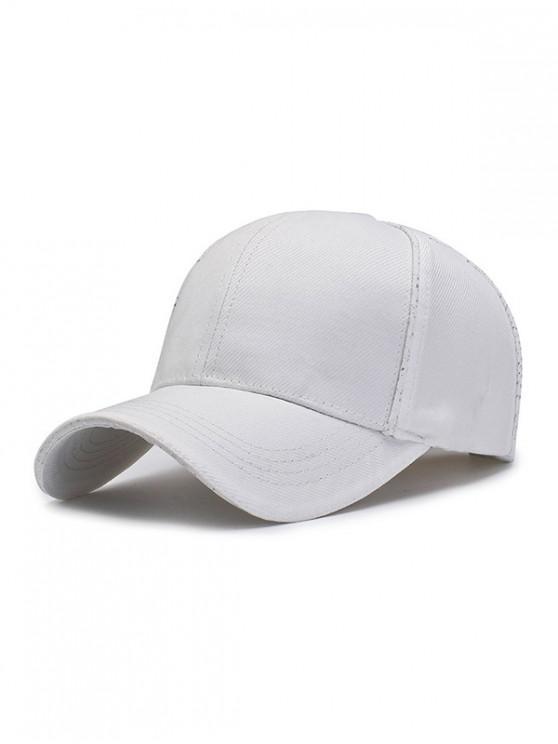 affordable 6 Petals Solid Sport Baseball Cap - WHITE