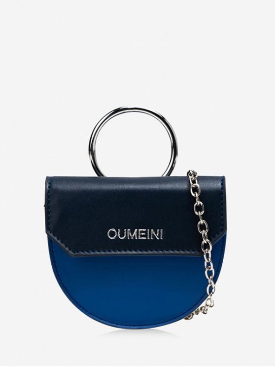ladies Semicircle Jointed Character Pattern Bag - DEEP BLUE