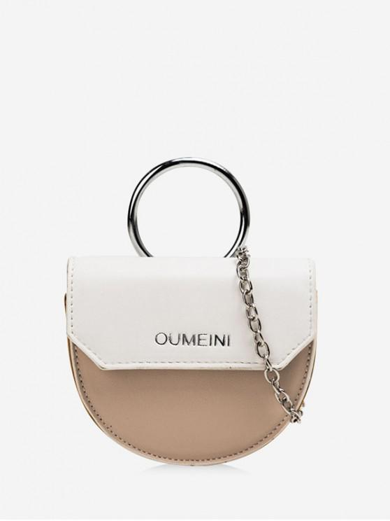 outfits Semicircle Jointed Character Pattern Bag - WHITE