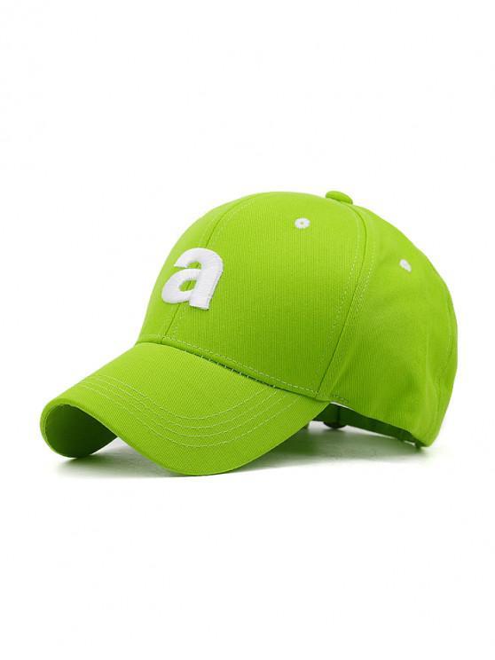 fancy Embroidery A Letters Sport Baseball Cap - LAWN GREEN