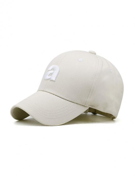 sale Embroidery A Letters Sport Baseball Cap - BEIGE