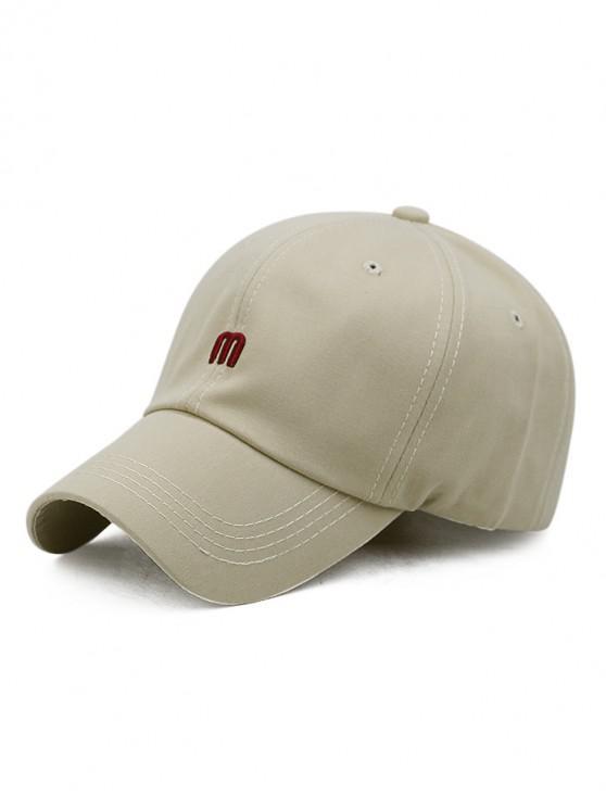 shops M Letter Outdoor Embroidery Baseball Cap - KHAKI