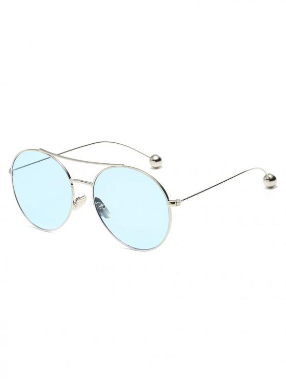 buy Steel Ball Legs Round Sunglasses - DAY SKY BLUE