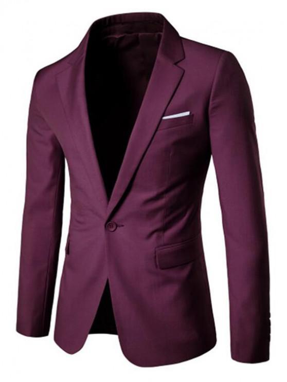 Giacca da abito formale con tasca finta sul petto con spacchi laterali - Rosa del Garofano Nero XS