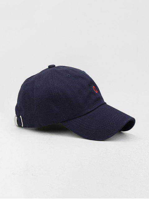 Casquette de Baseball Lettre Brodée en Coton - Bleu de Minuit  Mobile