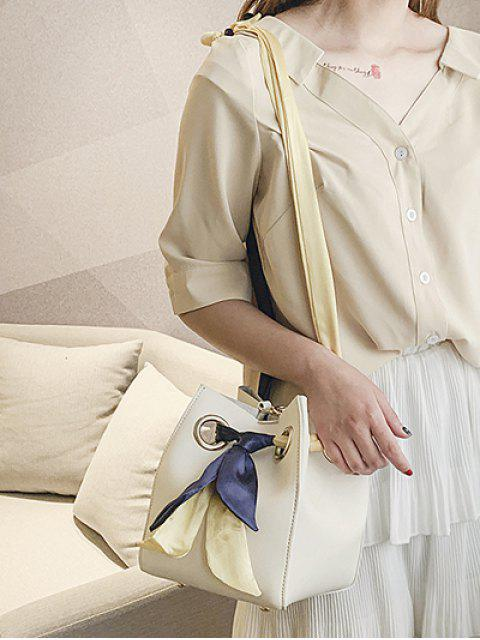 Sac à Bandoulière avec Nœud Papillon Design en PU - Blanc  Mobile