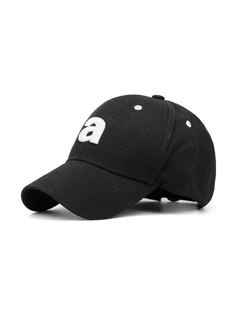 Casquette de Baseball de Sport Lettre A Brodée - Noir  Mobile