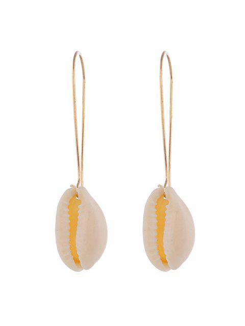 Boucles d'Oreilles Coquille en Métal - Or  Mobile