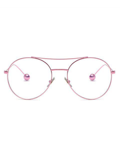 Lunettes de Soleil Rondes avec Boule en Acier - Rose Cochon  Mobile