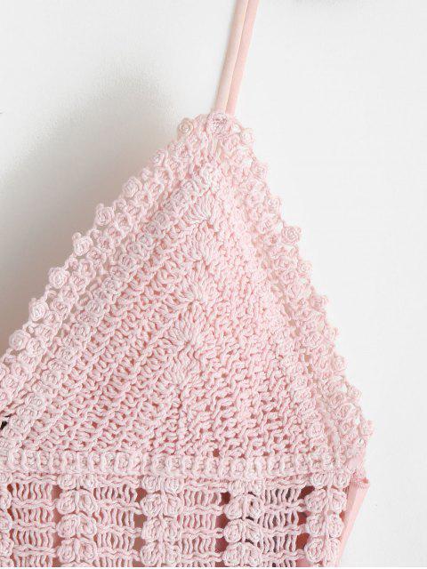 ZAFUL Robe Ligne A Fleurie Imprimée Panneau au Crochet - Rose Léger  Taille Unique Mobile