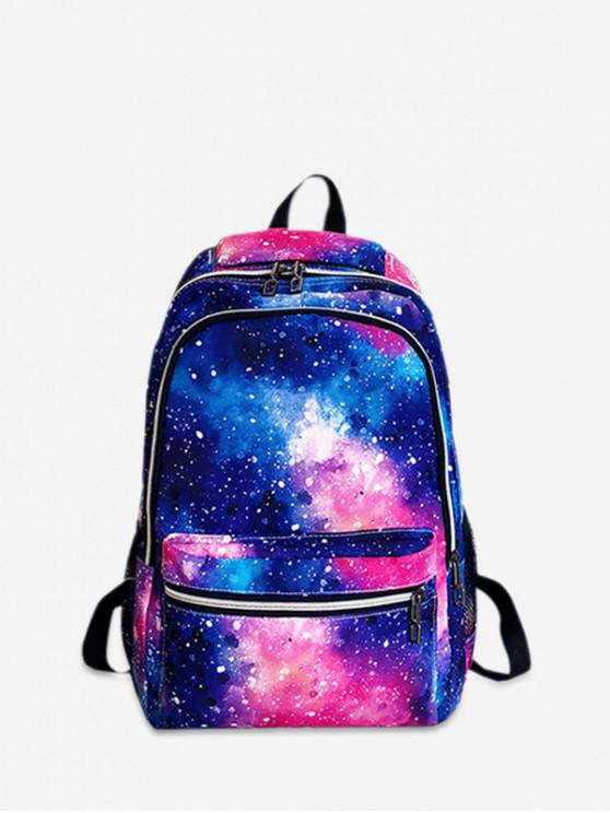 latest Galaxy Pattern Casual Backpack - VIOLA PURPLE