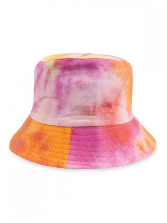 Cappello a secchiello a doppia faccia con doppia sfumatura - Arancione Tigre