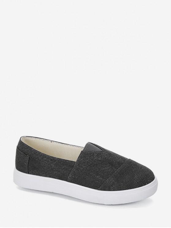 รองเท้าโลฟเฟอร์ลำลอง - สีดำ EU 43