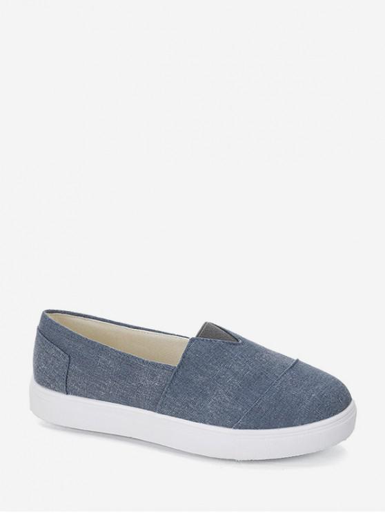 รองเท้าโลฟเฟอร์ลำลอง - กางเกงยีนส์สีฟ้า EU 43