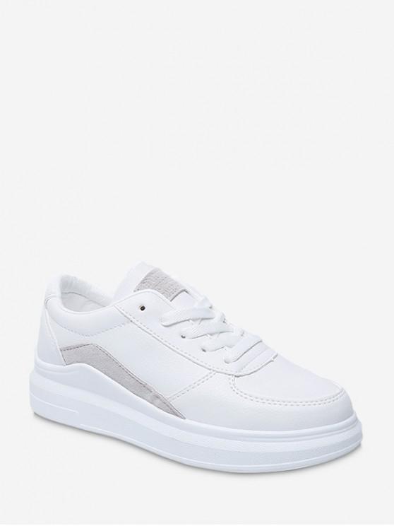 new Contrast Trim PU Leather Skate Shoes - GRAY EU 36