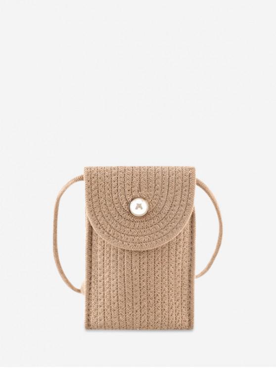 sale Flap Rectangle Mini Crossbody Bag - LIGHT KHAKI
