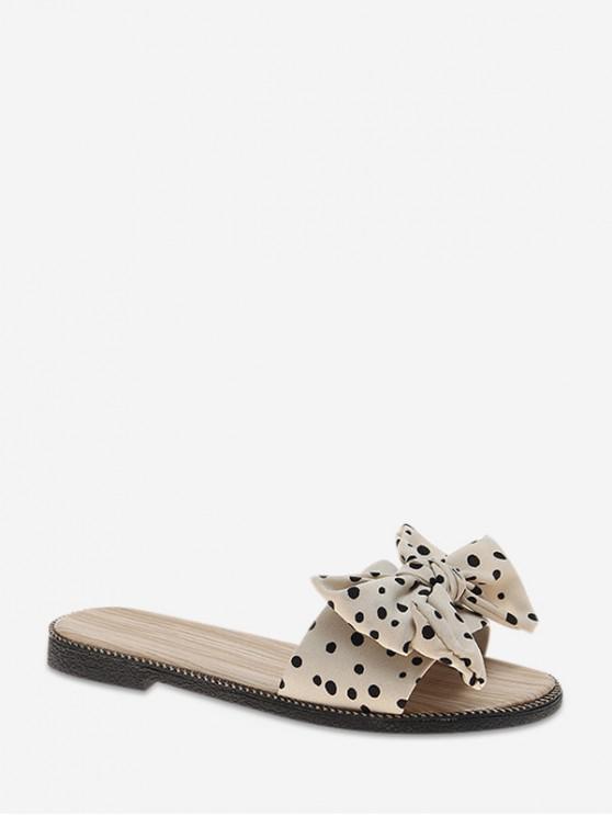 Pantofole da esterno di design chic Bowknot - Beige UE 40