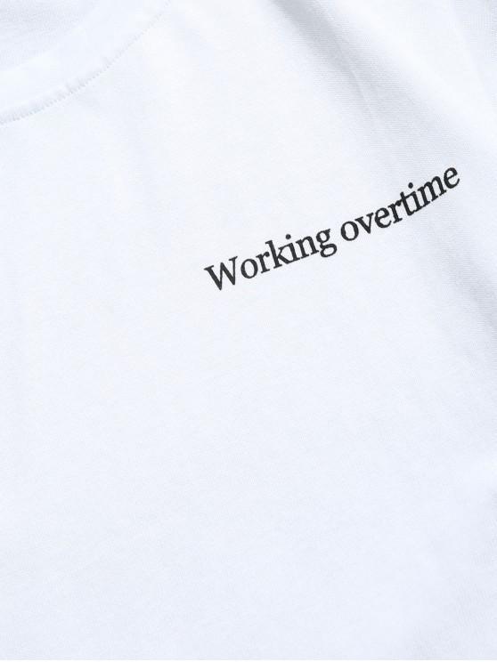 shirt SupplémentairesBlanc Épissé Avec Travail Twinset Sweat Fausse 2xl Heures De ZkXOPiuT